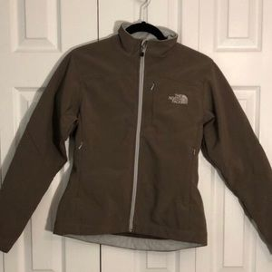 Brown Northface Shell Winter Jacket